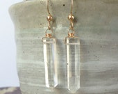 crystal points. 14k gold filled. spiritual. energy amplifier. intuitive stone.