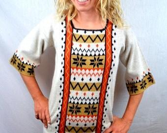 Vintage 70s Geometric Southwest Sweater - Le Roy