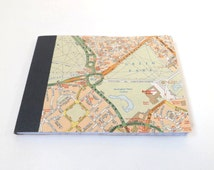 UK #18 - London Street Map - Recycled Road Map Pocket Notebook
