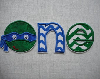 Free Shipping Ready to Ship   Turtle ONE Fabric Iron on applique