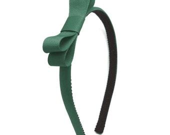 Forest Green Bow Headband - Little Girl Headband, Adult Headband, Big Girls Headband - Back to School Headband - School Uniform