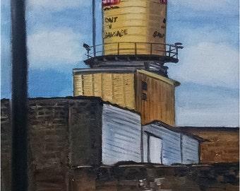 Plein Air Painting of Chicago's West Loop - 9x12in Original Oil Painting