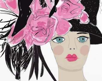 FASHION Greeting Cards - Black and Pink