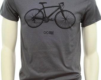 Bicycle| Men's regular T Shirt| Infinite MPG| Bike art by MATLEY| Up to 5XL| Cycling gear| Gift for him| Bike tees.