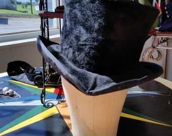 Victorian Black Fur Rogue's Gallery Top Hat