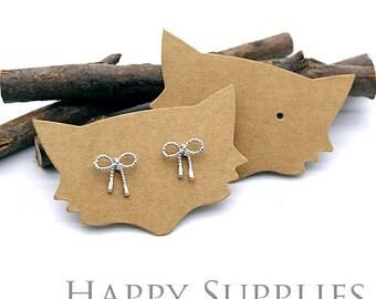 52X33MM Kraft Paper Fox shape Earring Display Tags/ Earring Display Cards / Earring Holder, Jewellery Supplies, Packaging (TAG24)