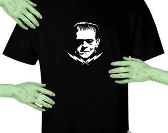 Voodoo Sugar Frankenstein Men's / Unisex Black t-shirt Plus Sizes Available