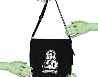 Voodoo Sugar St Christopher Walken Patron Saint Of Cow Bell Black Messenger Bag
