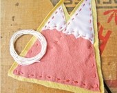 Blush Pink Mountains Fabric Patch