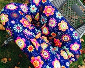 Custom Boutique (Peppy Petals) Shopping Cart Cover -comes with a pillow and a safety belt