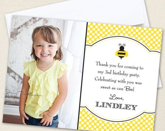 Bumblebee Photo Thank You Cards - Professionally printed *or* DIY printable