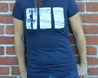 Bird on a Wire T-shirt--Women's