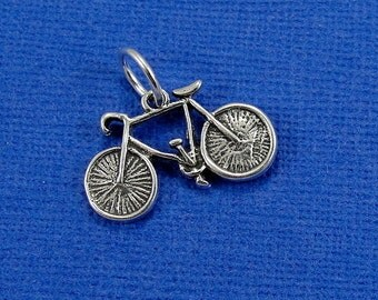 Bicycle Charm - Sterling Silver Bicycle Charm for Necklace or Bracelet