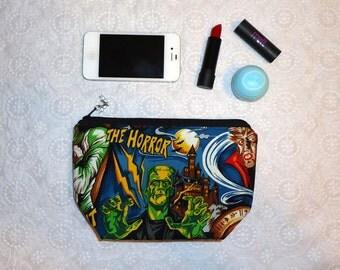 Frankenstein Makeup Bag - Horror Movie Monster Zipper Bag