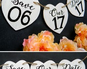 Save Our Date Banner Save The Date Banner Wedding Garland Photography Prop Engagement Photo Sign Save The Date Sign Heart Banner