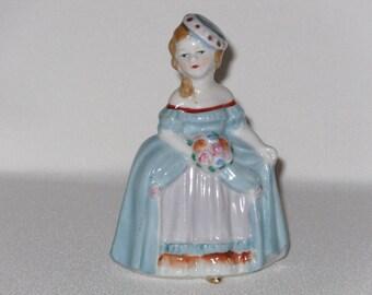Vintage Occupied Japan Lady Figurine In Hoop Skirt