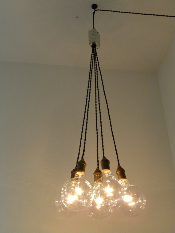 Plug In Cluster Chandelier Pendant Lighting Modern Swag Custom