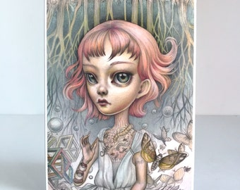 A Boy That is a Girl - Limited Edition signed numbered 5x7 pop surrealism Fine Art Print by Mab Graves