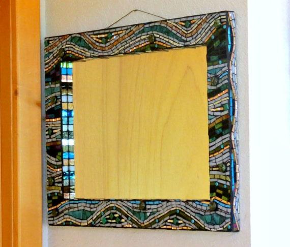 Sheffield Home Beveled Glass Mirror Home Design Ideas: Stained Glass Mosaic Mirror/ Home Decor/ By Dannimacstudios