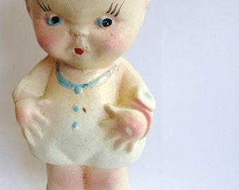 Vintage Chalk Cupie Kewpie Doll