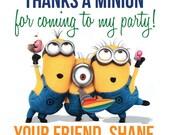 Minions Thank You Tags
