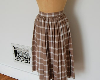 ON SALE - Vintage 50s Skirt - 1950s Plaid Skirt - The Juliana
