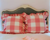P Kaufmann Large Buffalo Check Euro Sham with Knife Pleats or Ruffle Available in Several Colors