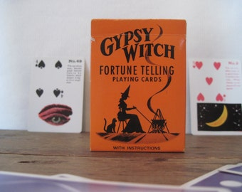 vintage GYPSY WITCH Fortune Telling Playing Cards - wiccan, occult, New Age, game night