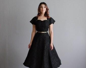 50s Party Dress - Vintage 1950s Little Black Dress - Joan Norton Irwin Dress