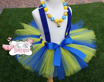 DESPICABLE ME, MINION- Yellow and Blue toddler/child Tutu Set- Newborn-5t