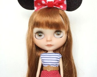 Minnie Mouse inspired ears for Blythe