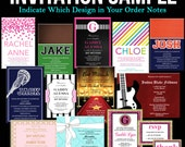 INVITATION SAMPLE - Bar or Bat Mitzvah, Sweet 16 Sixteen, Wedding