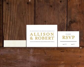 Modern Wedding Invitations,Modern Serif Invitation,Modern Minimalist Wedding Invites,Minimalist Wedding Invitation, Serif Wedding Invites
