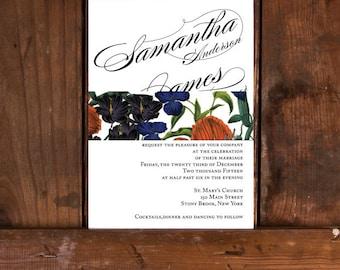 Modern Calligraphy Wedding Invitations,Elegant Calligraphy Wedding Invitation,Romantic Classic Wedding Invitations,Boho Chic Wedding Invites