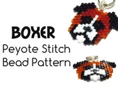 Boxer Dog Bead Patterns, Peyote Stitch Bead Weaving, Delica Bead Pattern | DIGITAL DOWNLOAD