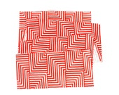 Maze Table Runner - Geometric Modern Organic Cotton