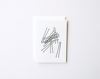 Hair Pins - Letterpress Greeting Card