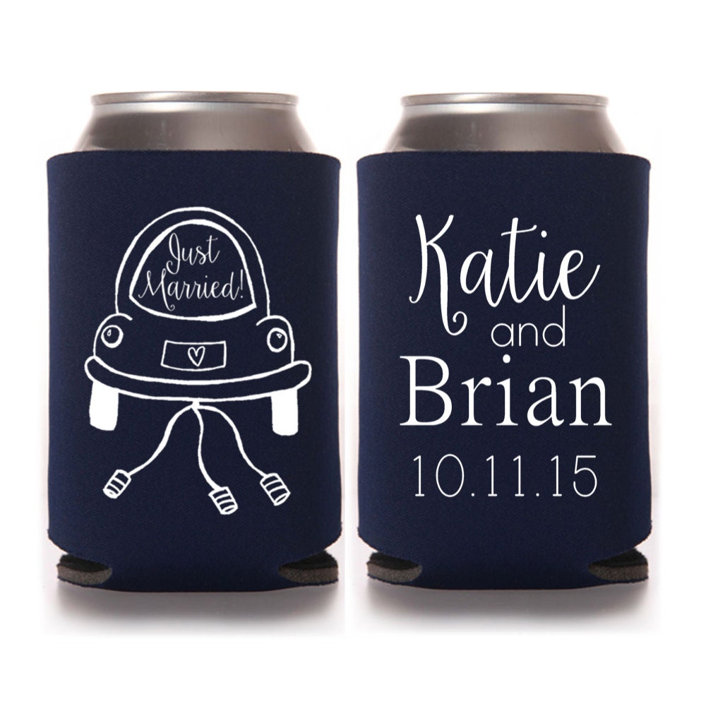 Personalized Can Coolers ~ Personalized wedding can coolers just by yourethatgirldesigns