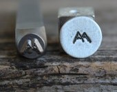 Mountains-Metal Stamp-5mm Size-Steel Stamp-New Metal Design Stamps-by Metal Supply Chick