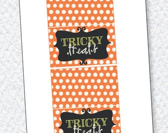 Boo To You Halloween Printable Fold Over Tag (INSTANT DOWNLOAD) by Love The Day