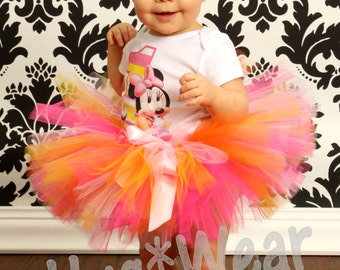 Baby Minnie Mouse First Birthday Shirt + Tutu Outfit (any age) 1st Birthday
