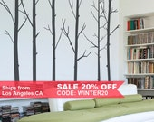 Winter Tree Wall Decal - Baby Nursery Wall Decal - LSWD-0031