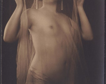 Nude with Pearls by J. Mandel, A. Noyer, circa 1910s/20s