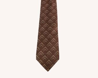Vintage Donna Karan Brown Silk Tie