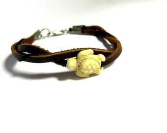 Turtle Ankle Bracelet Turtle Jewelry Anklet Leathr Bracelet Sea Turtle Hawaiian Honu Trending Jewelry Teen Gifts Trending Now Sale Jewelry