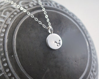 TAURUS dainty coin necklace. small silver zodiac necklace Taurus symbol jewelry Meaningful thoughtful gift or great layering necklace