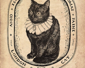 Thomas Paine A5 Indigo Print