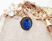 """Get 15% OFF - Handmade Resin """"Virgo"""" Constellation Sign Antique Bronze Plated Oval Adjustable Ring - St. Patrick's Day SALE 2016"""