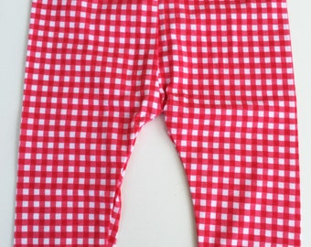 Baby Leggings / Red/White Gingham