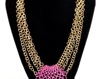 Pink and Gold Graduated European 4-in-1 Chainmaille